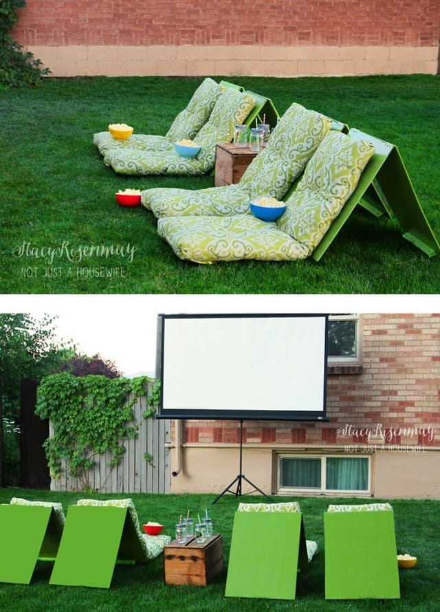 DIY Outdoor Movie Theater Seating