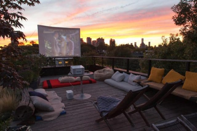 Rooftop Movie Theater