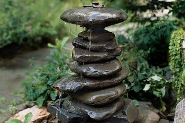 Stacked Rocks Water Fountain