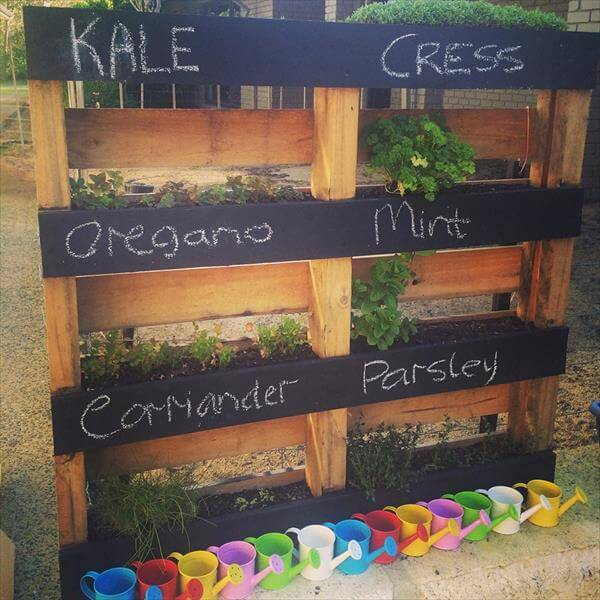 Labeled Herb Garden