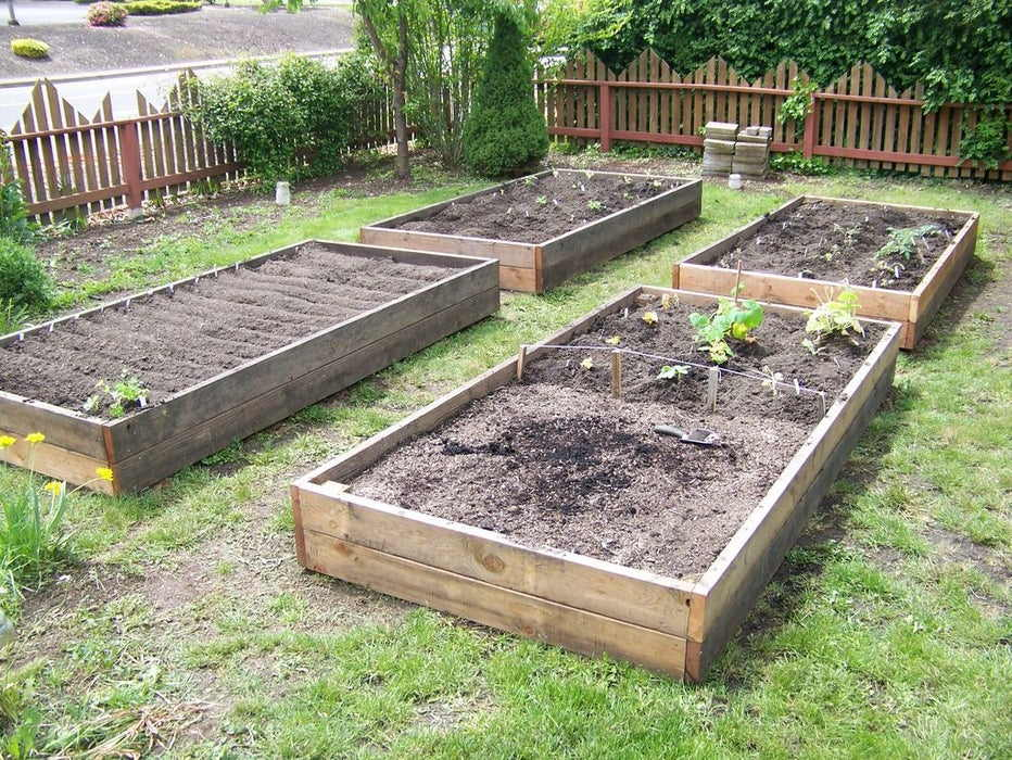 Raised Garden Beds from Reclaimed Wood