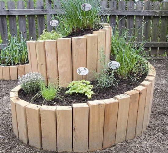 Spiral Raised Herb Bed