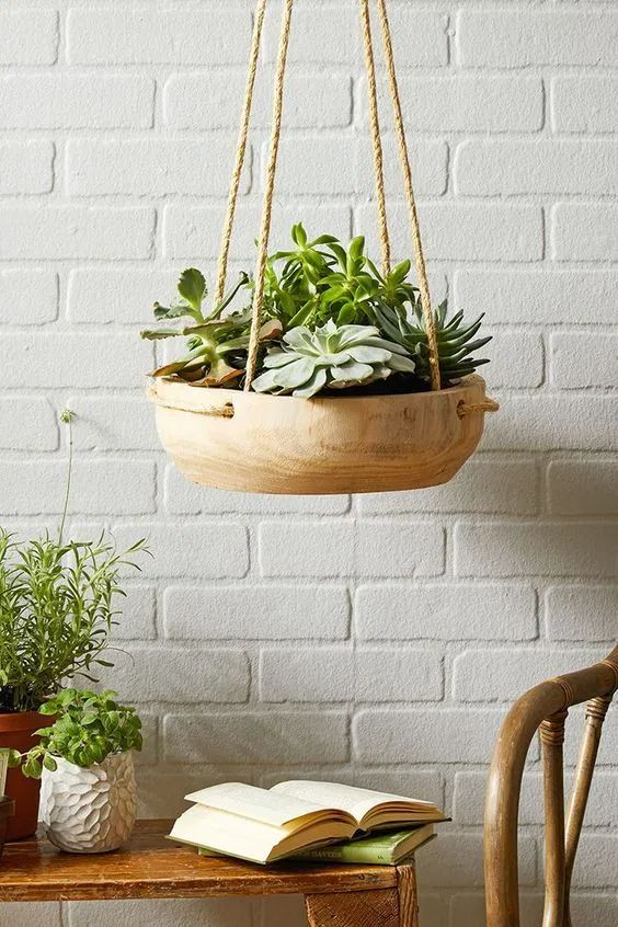 Bread Bowl Hanging Planter