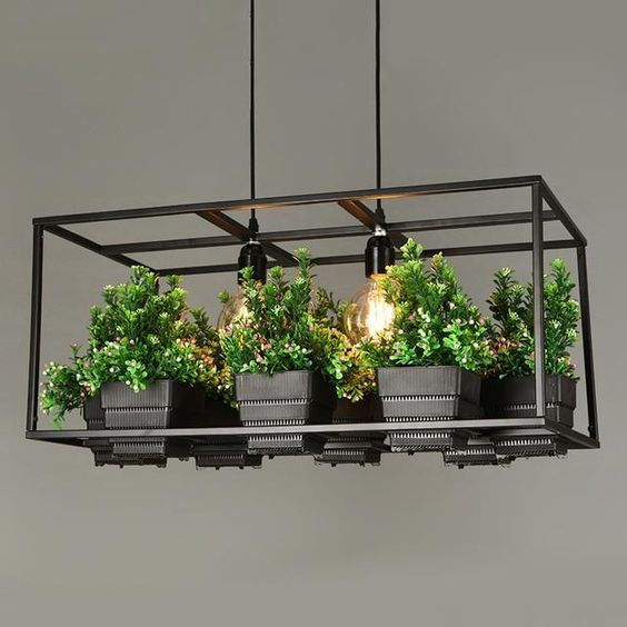 Hanging Planter Chandelier