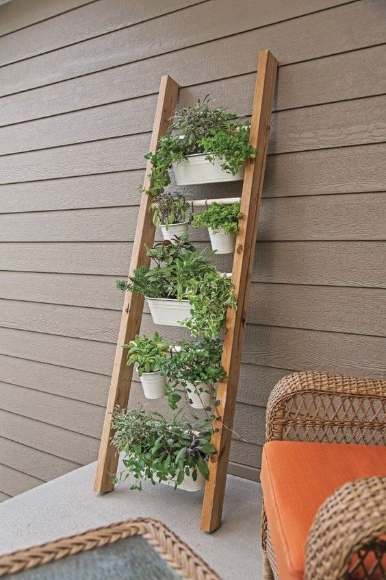 DIY Ladder Planter Stand