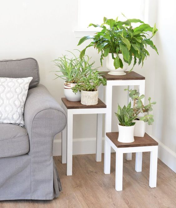 Square Tiered Planter Stand