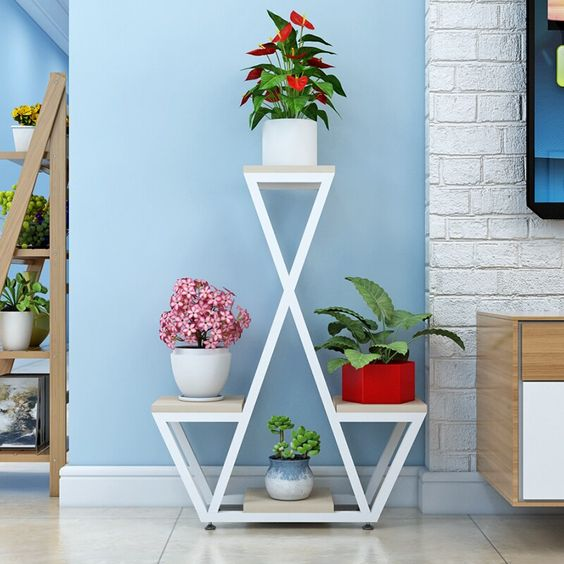 Triangular Planter Stand